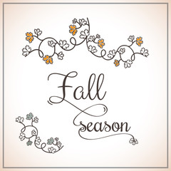 fall background with typography
