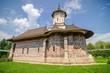 Humorului Monastery with a historic painting Moldavia Romania