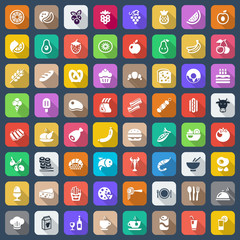 flat food iconset colorful