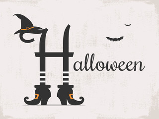 halloween background with typography
