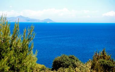 The blue aegean sea