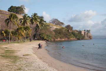 City beach. Fort-de-France, Martinique