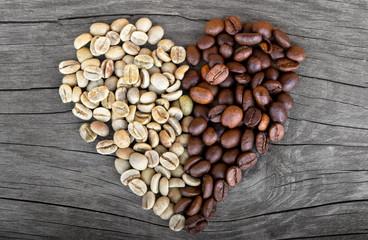 coffee beans hearth shape