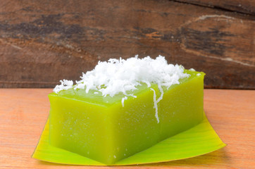 """Kanom Piak poon"" is name of Thai dessert"