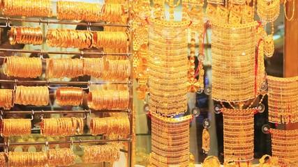 Shot of jewelry stall in Dubai, United Arab Emirates