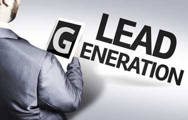 Business man with the text Lead Generation