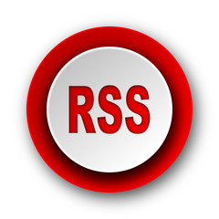 rss red modern web icon on white background