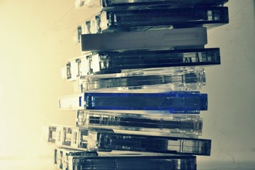 Filtered picture of retro cassette tapes