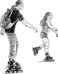 siblings skating