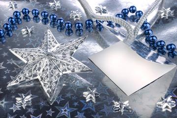 Weihnachtssterne Perlenkette Grußkarte