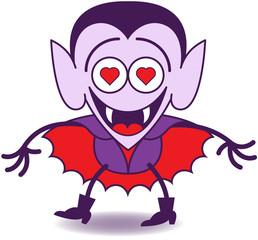 Halloween Dracula feeling madly in love
