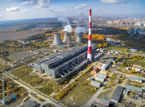 Combined heat and power factory. Tyumen. Russia - 70959400