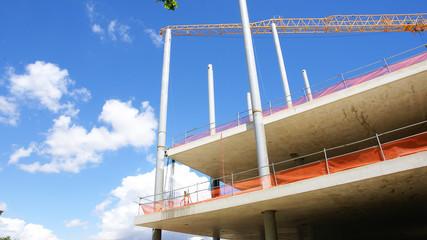 Construcción de un edificio en Barcelona