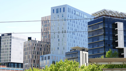 Modernos edificios en Barcelona