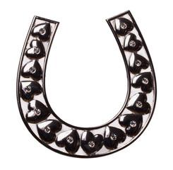 decorative horseshoe isolated on the white background