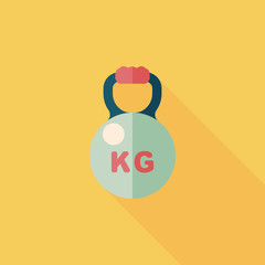 kettlebells flat icon with long shadow,eps10