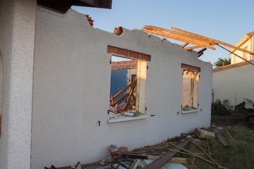 Maison en démolition