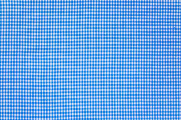 Blue to white checkered piece of cloth