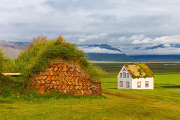Old traditional Icelandic farm