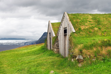 Old traditional Icelandic farm
