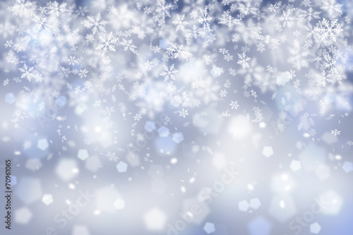 canvas print picture Abstract snowflake Christmas background