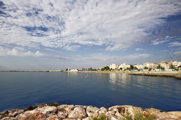 View of the coast from Manfredonia (FG) Puglia