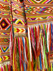 Colourful fringes  - part of beautiful handmade craft