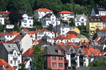 Häuser in bergen, Norwegen