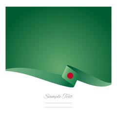 Abstract color background Bangladesh flag vector