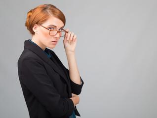 red-haired businesswoman's porttrait