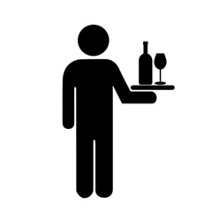 Waiter restaurant icon