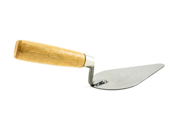 lute trowel isolated on white background