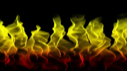 colorful burning flames