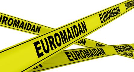 Евромайдан (euromaidan). Желтая оградительная лента