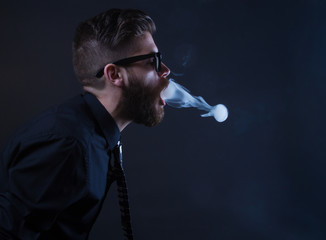 hipster smoker