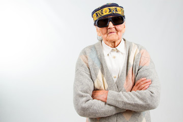 stylish grandma 's studio portrait