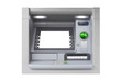 Silver isolated ATM with blank screen - 70964210