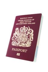 British passport isolated on white
