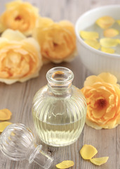 Rose water made of yellow roses