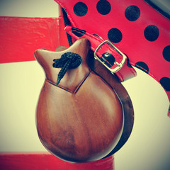 castanets and flamenco shoes