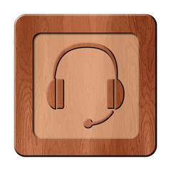 Bois en relief : casque audio