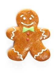 Christmas gingerbread man cookie