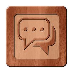 Bois en relief : conversation social