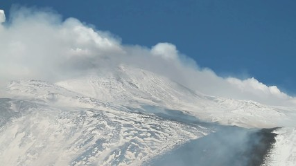etna covered by snow