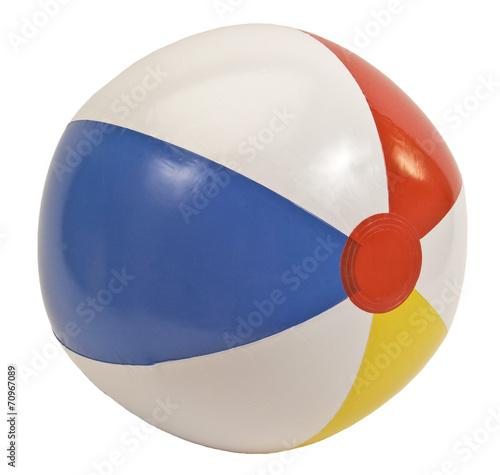 Beach Ball Isolated On White - 70967089