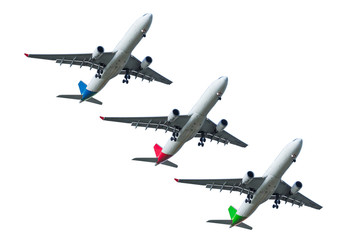 air jet plane isolated with clipping path