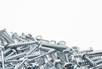 Collection Of Iron Screws, Nuts and Lockwashers Below