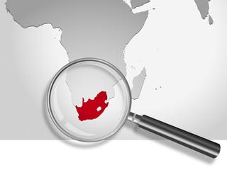 Landkarte *** Afrika Südafrika