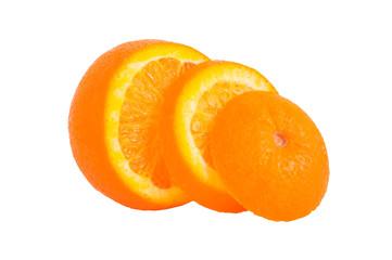 Orange aufgeschnitten