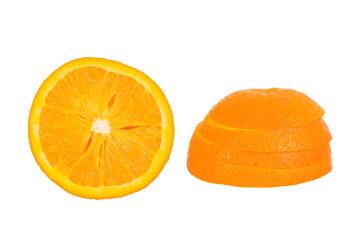 Orangenquerschnitt